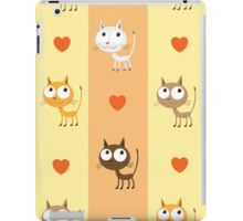 Pattern with kittens. iPad Case/Skin