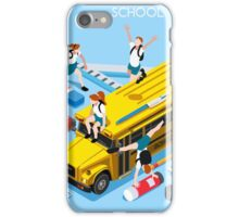 School Bus and Chancellery Set iPhone Case/Skin