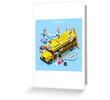 School Bus and Chancellery Set Greeting Card