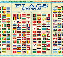 Flags of the world  by MuralDecal