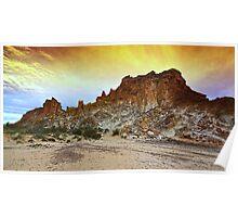 Rainbow Valley Sunset Poster