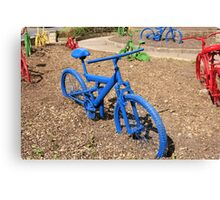 Coloured Bicycles Canvas Print