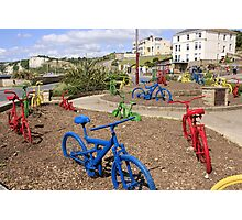 Colored Bicycles Photographic Print