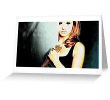 Dark Buffy - Evil Buffy Greeting Card