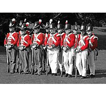 Thin Red Line - Battle of Waterloo Photographic Print