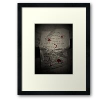 only blood & tears...oh & your lies Framed Print