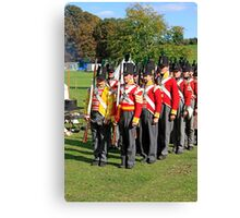 Thin Red Line - Battle of Waterloo Canvas Print