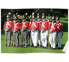 Thin Red Line - Battle of Waterloo Poster