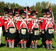 Thin Red Line - Battle of Waterloo by Chris L Smith