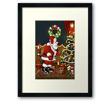 Santa`s Visit Framed Print