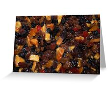 Christmas Pudding Fruit Greeting Card