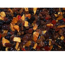 Christmas Pudding Fruit Photographic Print