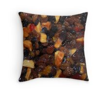 Christmas Pudding Fruit Throw Pillow
