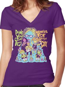 Oggle Rock Women's Fitted V-Neck T-Shirt