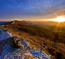 Malvern Hills: Golden Light by Angie Latham