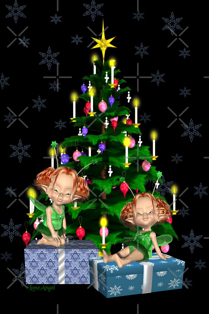Christmas Fairies by LoneAngel