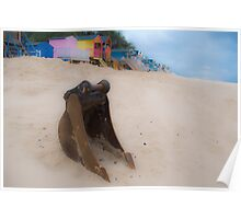 Bucket, sand, no spade. Poster