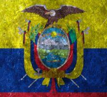 Ecuador Grunge Sticker