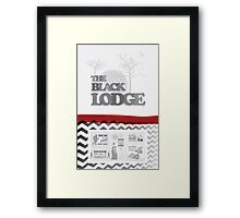 The Black Lodge Framed Print