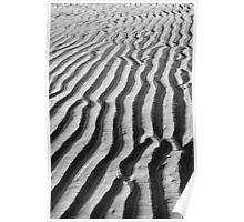 Sand ripples at Three Cliffs Bay Poster