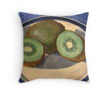 Two kiwi halves and a gooseberry Throw Pillow