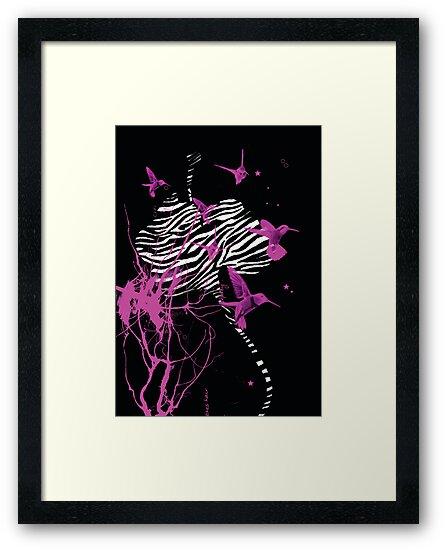 Zebra Orchid Digital Illustration by Flylittlebird