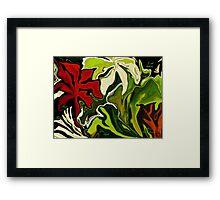 MY GARDEN.. PEACE- LOVE-HOPE-LIGHT  Framed Print
