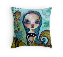 BluMermaiden by skye pillow Throw Pillow