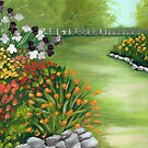 Spring Rock Garden Greeting Card by Barbara Applegate