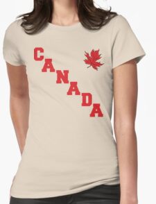Canada Maple Leaf Womens Fitted T-Shirt