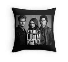 Straight Outta Mystic Falls - The Vampire Diaries Throw Pillow