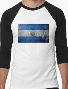 El Salvador Grunge Men's Baseball ¾ T-Shirt