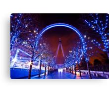 Christmas time at the London eye Canvas Print