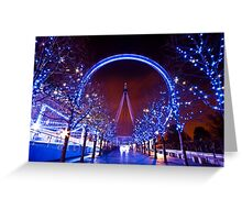 Christmas time at the London eye Greeting Card