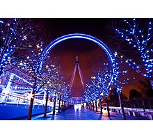 Christmas time at the London eye Photographic Print