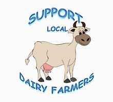 Support Local Dairy Farmers Women's Fitted Scoop T-Shirt