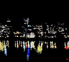 River Reflection at pdx  by Don Siebel