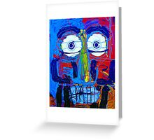 2 Guys Face Greeting Card