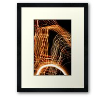 Suburb Christmas Light Series - Energy Arc Framed Print