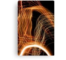 Suburb Christmas Light Series - Energy Arc Canvas Print
