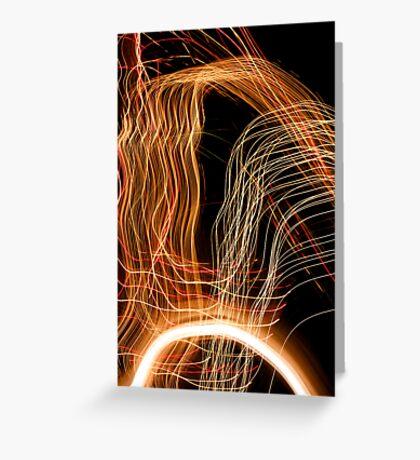 Suburb Christmas Light Series - Energy Arc Greeting Card