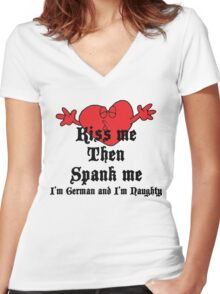 Funny German T-Shirt Women's Fitted V-Neck T-Shirt