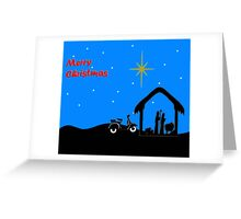 Vespa Nativity Greeting Card