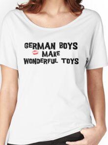"Funny German ""German Boys Make Wonderful Toys"" T-Shirt Women's Relaxed Fit T-Shirt"