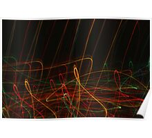 Suburb Christmas Light Series - Xmas Reach Poster