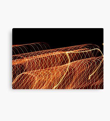 Suburb Christmas Light Series - Waves Canvas Print
