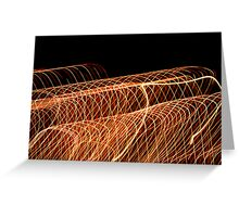 Suburb Christmas Light Series - Waves Greeting Card