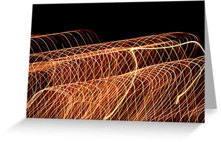 Suburb Christmas Light Series - Waves by David J. Hudson