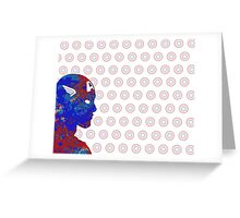 "A Splash of Heroism: ""Captain America"" Greeting Card"