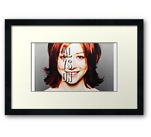 ALyson Hannigan  Framed Print